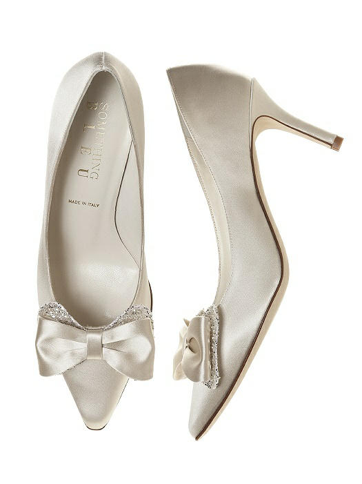 Doxy <i>styles</i> Satin and Sparkle Bridal Pump