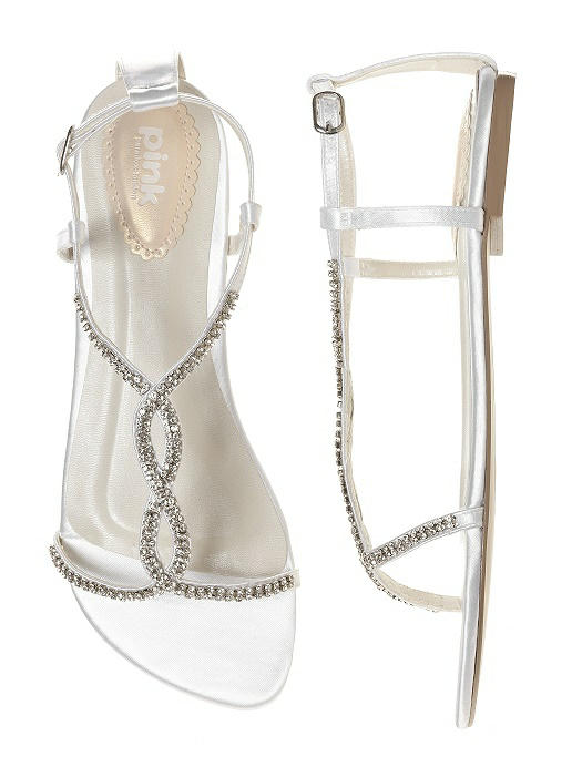 Heaven Dyeable Crystal Bridal Sandal