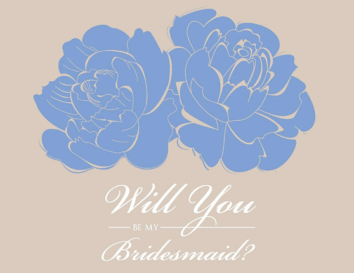 free will you be my bridesmaid card