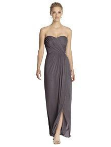 Dessy Shimmer Bridesmaid Dress 2882LS