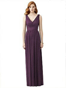 Dessy Shimmer Bridesmaid Dress 2955LS