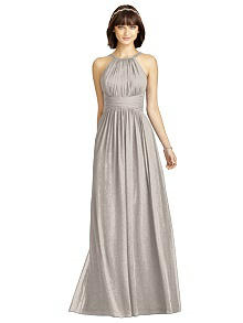 Dessy Shimmer Bridesmaid Dress 2969LS