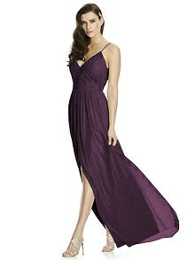 Dessy Shimmer Bridesmaid Dress 2989LS