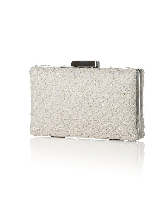 Pearl Daisy Lace Bridal Mini-Case Clutch
