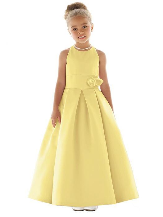 Sunflower flower girl dresses the dessy group flower girl dress fl4058 mightylinksfo