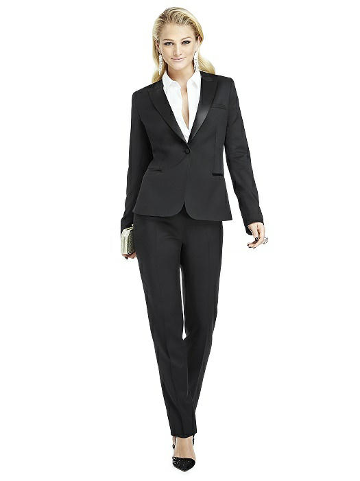 Women's Peak Collar Tuxedo Jacket - Marlowe by After Six