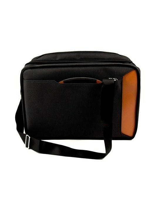 Back Pack Computer Bag, Black w/ Saddle Leather, T.P.