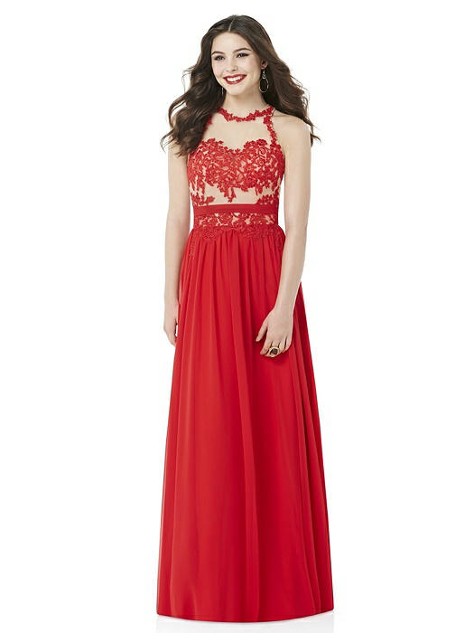After Six Prom Dress: Diane, Flame Red
