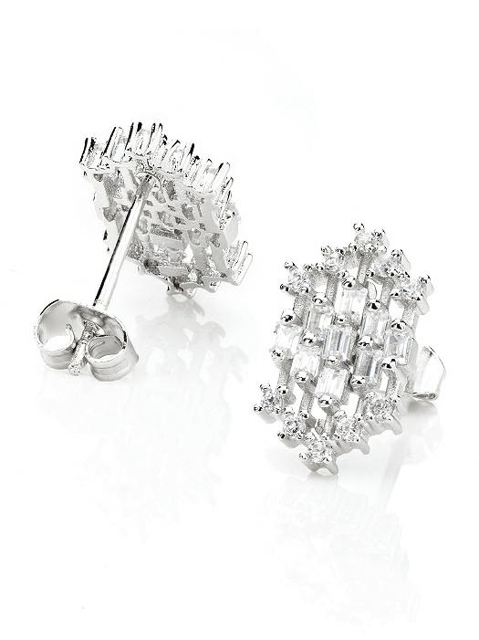 Patterned CZ Studs