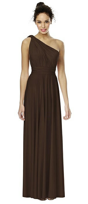 Matte Jersey Long Twist Wrap Dress