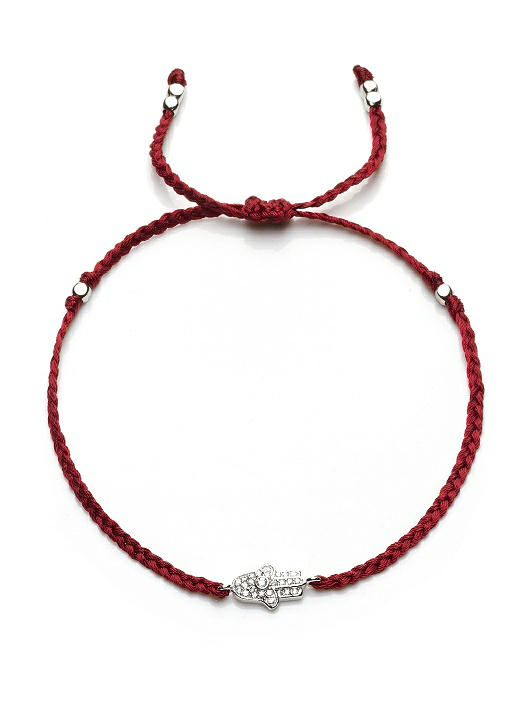 Friendship Bracelet with CZ Hamsa