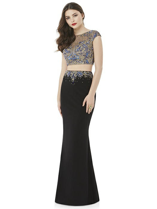After Six Prom Dress: Bethany Black Two-Piece