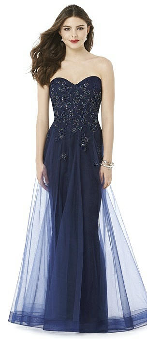 After Six Prom Dress: Ashley, Midnight Blue