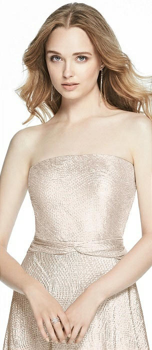 Rose Gold Soho Metallic Bridesmaid Dresses The Dessy Group