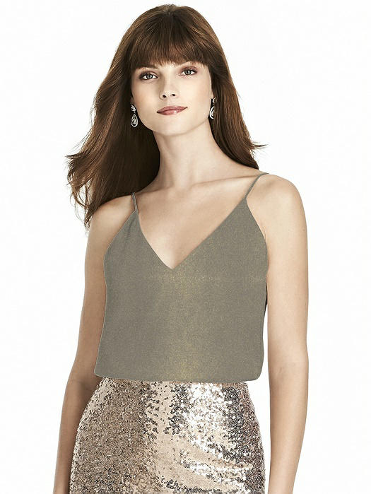 After Six Shimmer Bridesmaid Top T1507LS