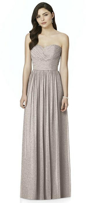 Dessy Shimmer Bridesmaid Dress 2991LS