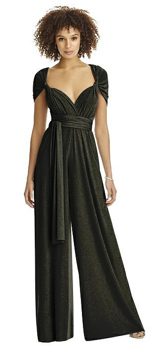 Twist Wrap Shimmer Jumpsuit