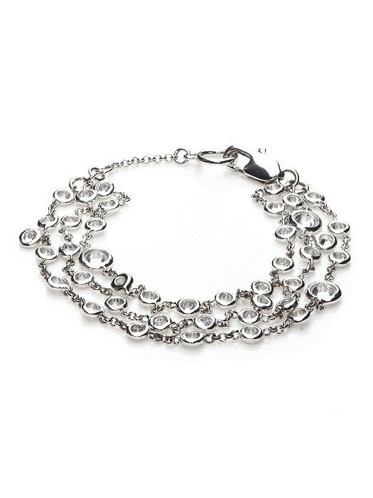 Three Row Floating CZ Bracelet