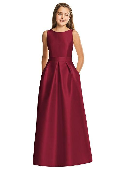 Junior Bridesmaid Dresses Burgundy Full Length