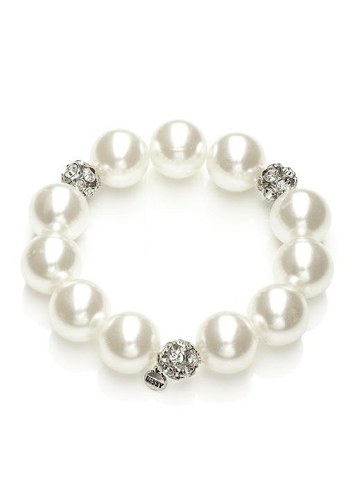 Pearl and Rhinestone Bracelet