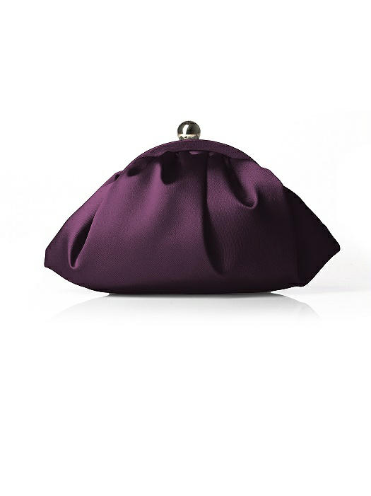 Gathered Matte Satin Clutch