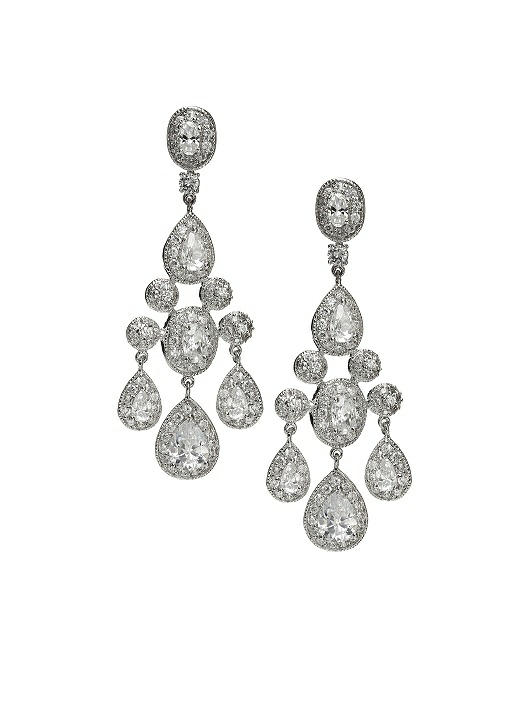 CZ Empire Chandelier Earrings
