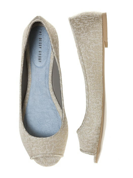 Park Avenue Brocade Open-Toe Wedding Flats