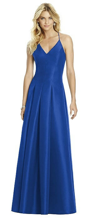 2fe4fc8527 After Six Sapphire Mikado Bridesmaid Dresses