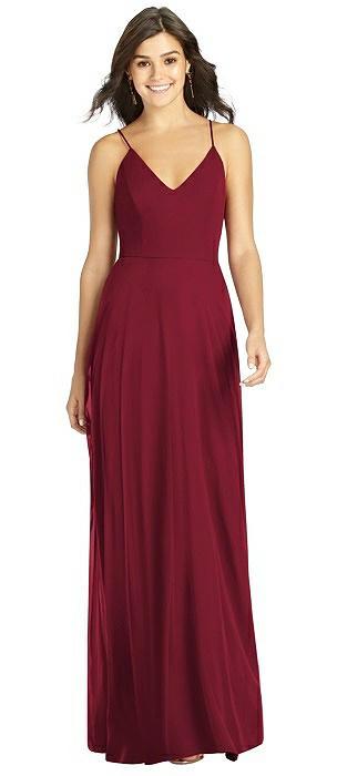 Charmeuse Burgundy Bridesmaid Dresses