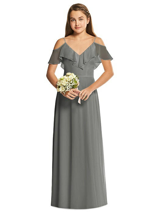 931eeae3ea6 Dessy Collection Junior Bridesmaid Dress JR548. Dessy Collection Junior  Bridesmaid Dress JR548. charcoal gray