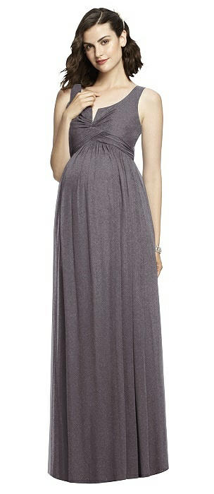 46dbba8da13d4 Maternity Stormy Silver Lux Shimmer Bridesmaid Dresses   The Dessy Group