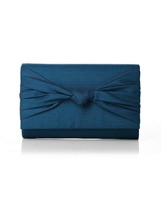 Silk Faille Knot Clutch On Sale
