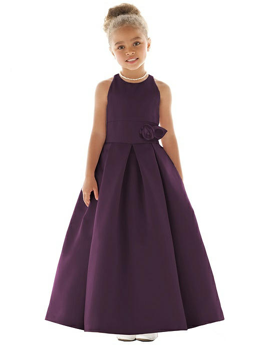 a5b099b19 Aubergine Flower Girl Dresses | The Dessy Group