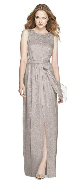 Dessy Shimmer Bridesmaid Dress 3025LS