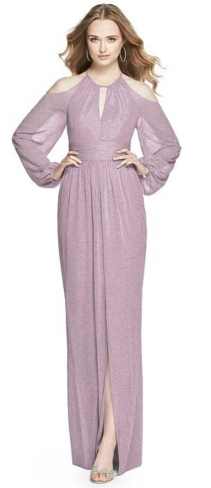 Dessy Shimmer Bridesmaid Dress 3018LS
