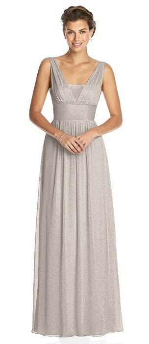 Dessy Shimmer Bridesmaid Dress 3026LS
