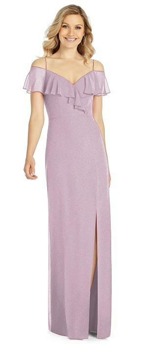 After Six Shimmer Bridesmaid Dress 6809LS