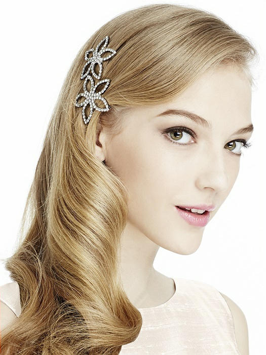 Rhinestone Starflower Barrettes
