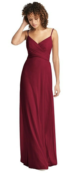 087c4f3d39 Chiffon Spaghetti Strap V-Neck Dress. Social Bridesmaids Style 8192