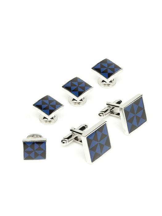 Enamel Cufflinks and Tuxedo Studs Set by After Six