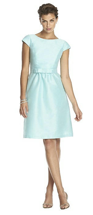 Alfred Sung Cap Sleeve Cocktail Dress D568