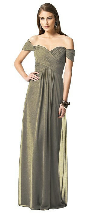 Dessy Shimmer Bridesmaid Dress 2844LS