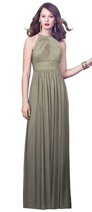 Dessy Shimmer Bridesmaid Dress 2918LS