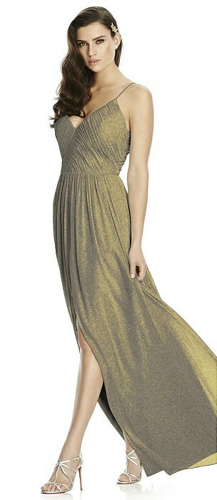 Dessy Shimmer Bridesmaid Dress 2989LS