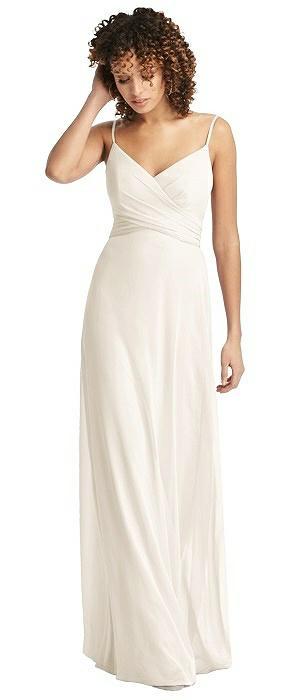 29da391d97d7 Chiffon Spaghetti Strap V-Neck Dress. Social Bridesmaids Style 8192