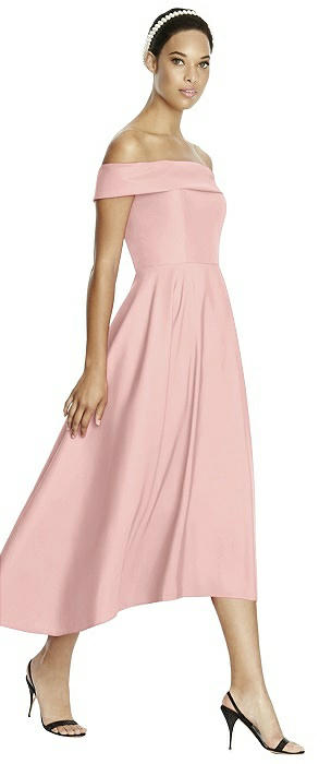 Studio Design 4513 Midi Off-the-Shoulder Bridesmaid Dress