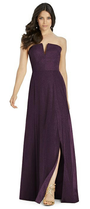 Dessy Shimmer Bridesmaid Dress 3041LS