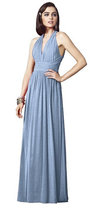 Dessy Shimmer Bridesmaid Dress 2908LS