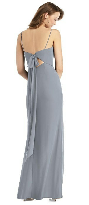 Stella Tie-Back Chiffon Trumpet Dress