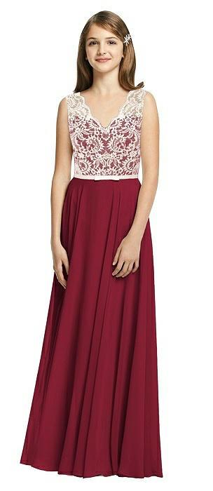Junior Bridesmaid Dresses Burgundy Marquis Lace Bridesmaid